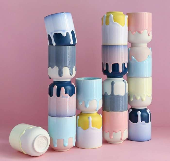 Arhoj – série Melting mugs – tavící se šálky