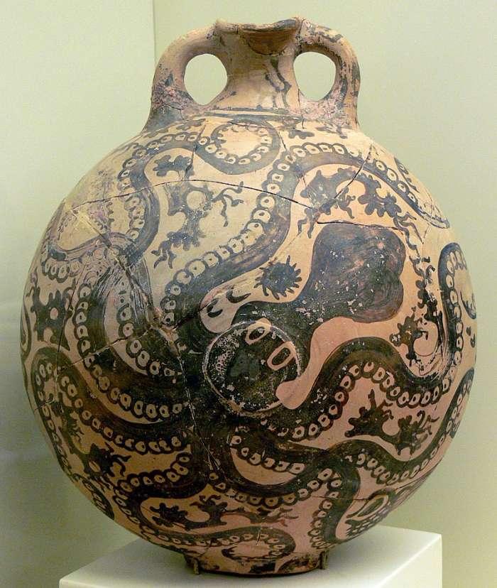 Chobotnicový džbánek z období nových paláců.