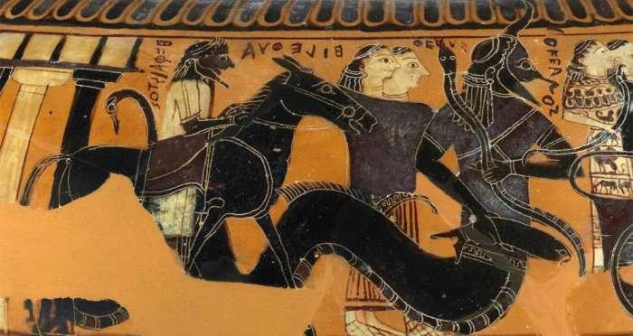 Hefaistos, Thetys a Oceanus