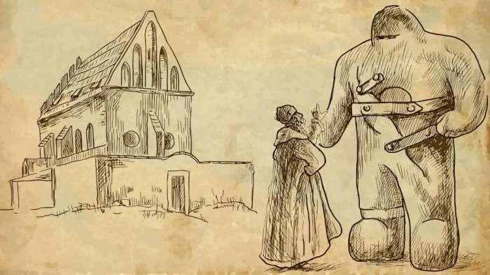 Klasický golem a rabbi Löw