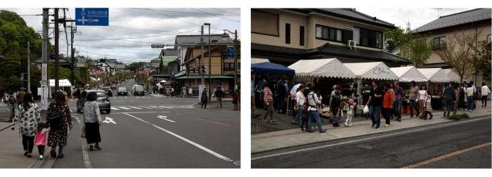 Mashiko během keramických trhů na jaře 2019